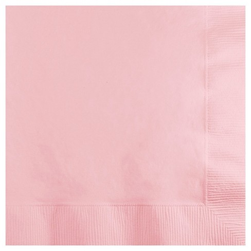 50ct. Classic Pink Cocktail Beverage Napkins - image 1 of 1