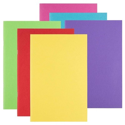 """12-Pack Blank Notebooks, Travel Journals for Creative Writing Projects, 6 Assorted Colors, 5.5"""" x 8.5"""""""