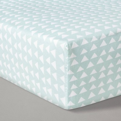 Fitted Crib Sheet Triangles - Cloud Island™ Mint