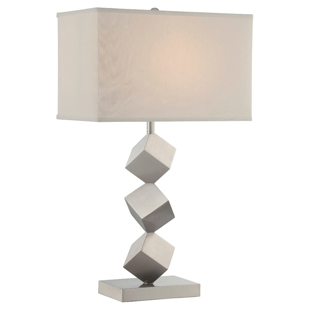 Agostino 1 Light Table Lamp - Silver, Silver/Off White