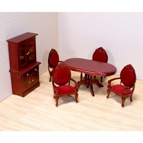 Melissa DougR Classic Wooden Dollhouse Dining Room Furniture 6pc