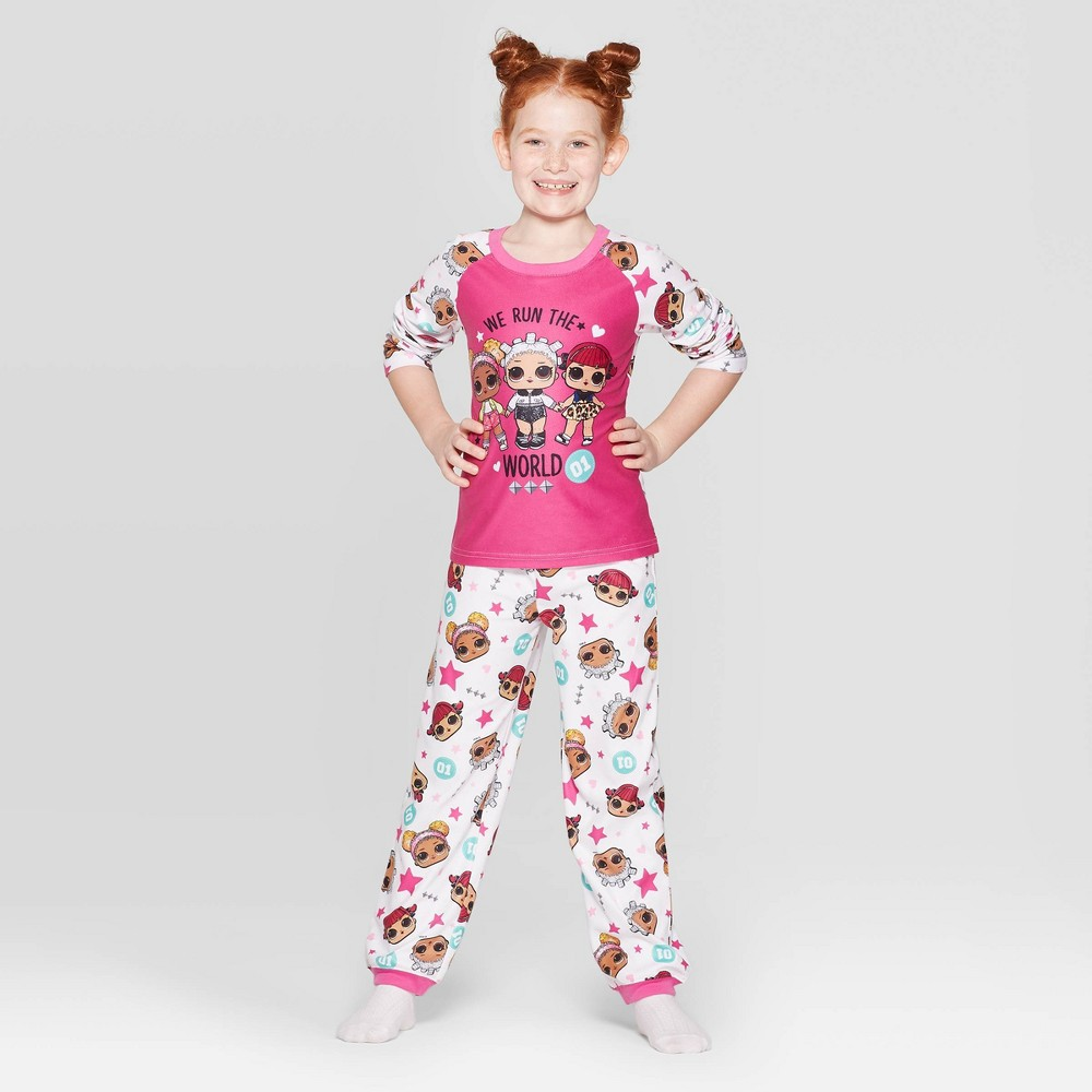 Image of Girls' L.O.L. Surprise! 2pc Pajama Set - White 12, Girl's