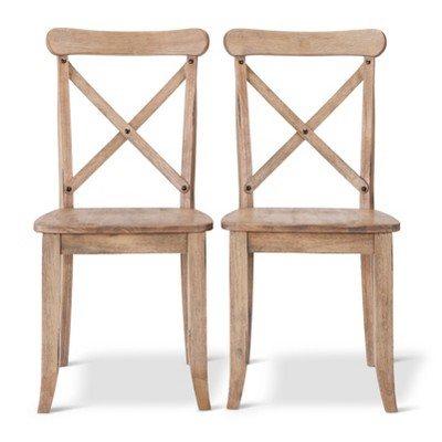 Harvester X Back Dining Wheat Set of 2 - Beekman 1802 FarmHouse