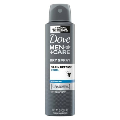 Deodorant: Dove Men+Care Dry Spray Stain Defense