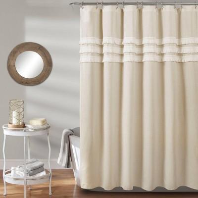 Ciel Tassel Shower Curtain Neutral - Lush Décor