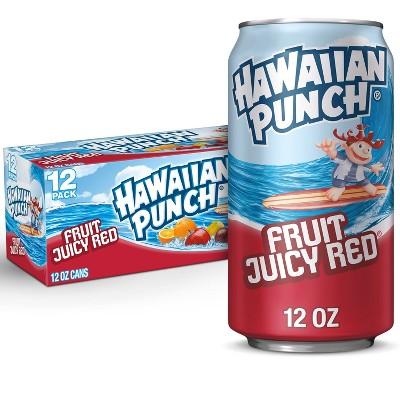 Hawaiian Punch Fruit Juicy Red - 12pk/12 fl oz Cans
