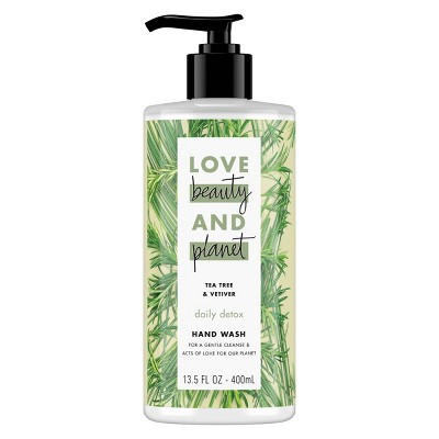 Love Beauty & Planet Daily Detox Hand Wash Soap Tea Tree Oil & Vetiver - 13.5oz