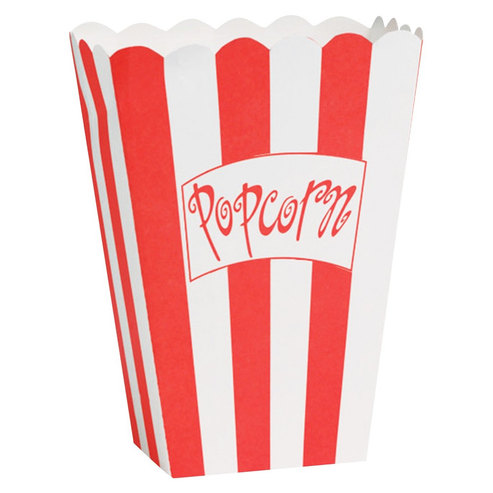 Image of 8ct Popcorn Boxes, Small, Red
