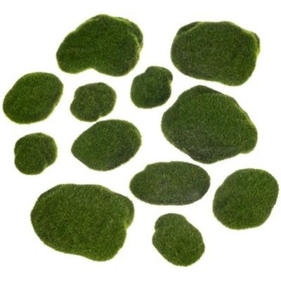 "Sullivans Set of 12 Moss Stones Decorative Filler 1""H & 1""H Green"