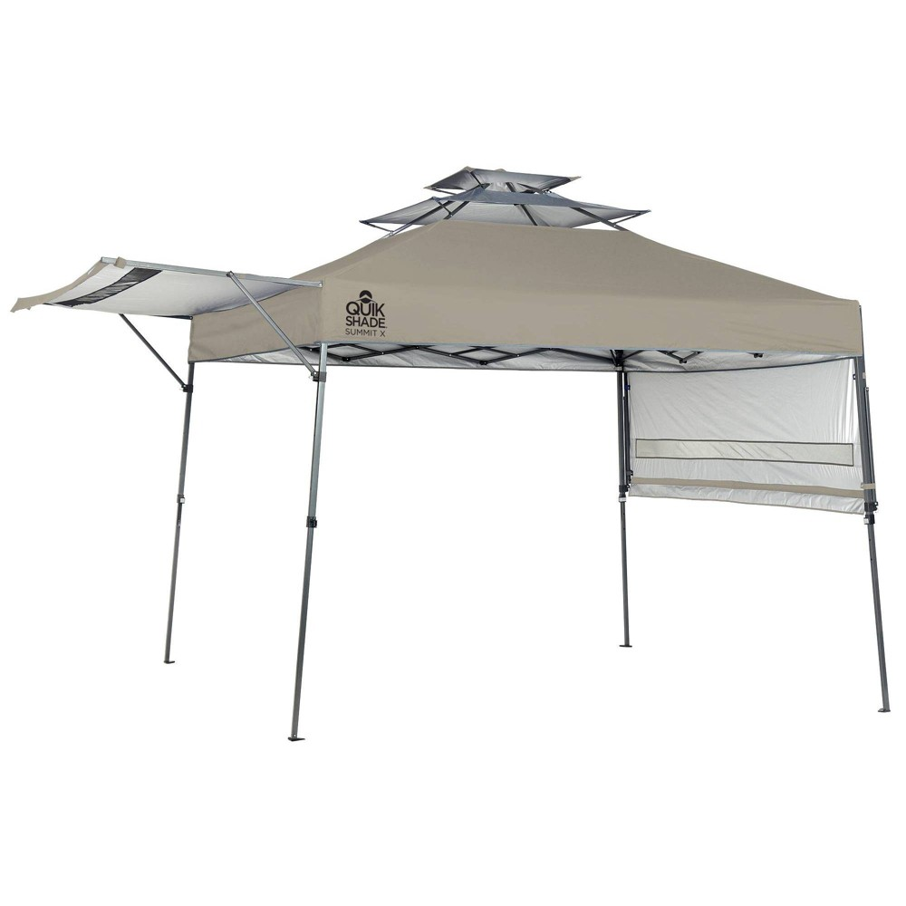 Quik Shade Summit X SX170 10x10 Instant Canopy w/Adjustable Dual Half Awnings - Taupe (Brown)