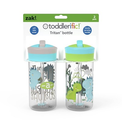 Zak Designs With Straw Lid Portable Drinkware Sets - 2pk/12oz