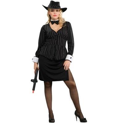 Forum Novelties Women's Gangster Plus Size Costume