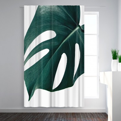 Americanflat Monstera Close Up by NUADA Blackout Rod Pocket Single Curtain Panel 50x84