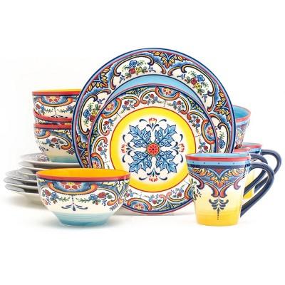 16pc Stoneware Zanzibar Dinnerware Set - Euro Ceramica