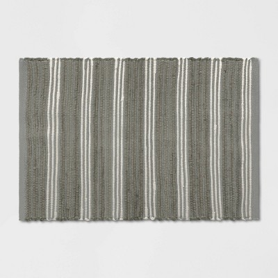 2'X3' Stripe Woven Accent Rug Gray - Threshold™