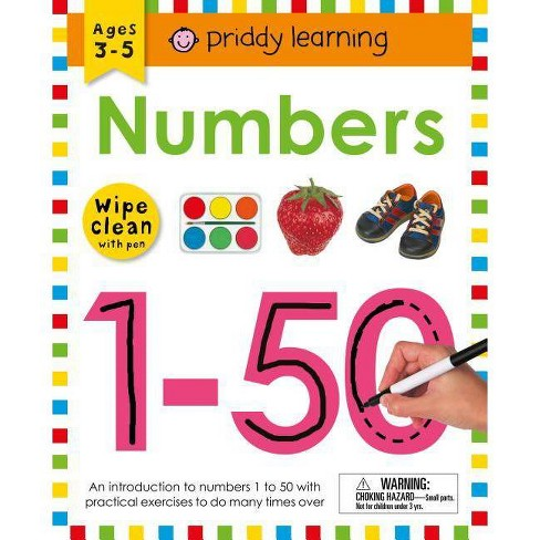 Wipe Clean Workbook: Numbers 1-50 - (Wipe Clean Learning Books) by  Roger Priddy (Spiral_bound) - image 1 of 1