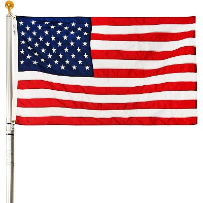 EZPOLE Flagpoles Residential 21 Feet Outdoor Adjustable Telescoping Liberty Flagpole with American Flag