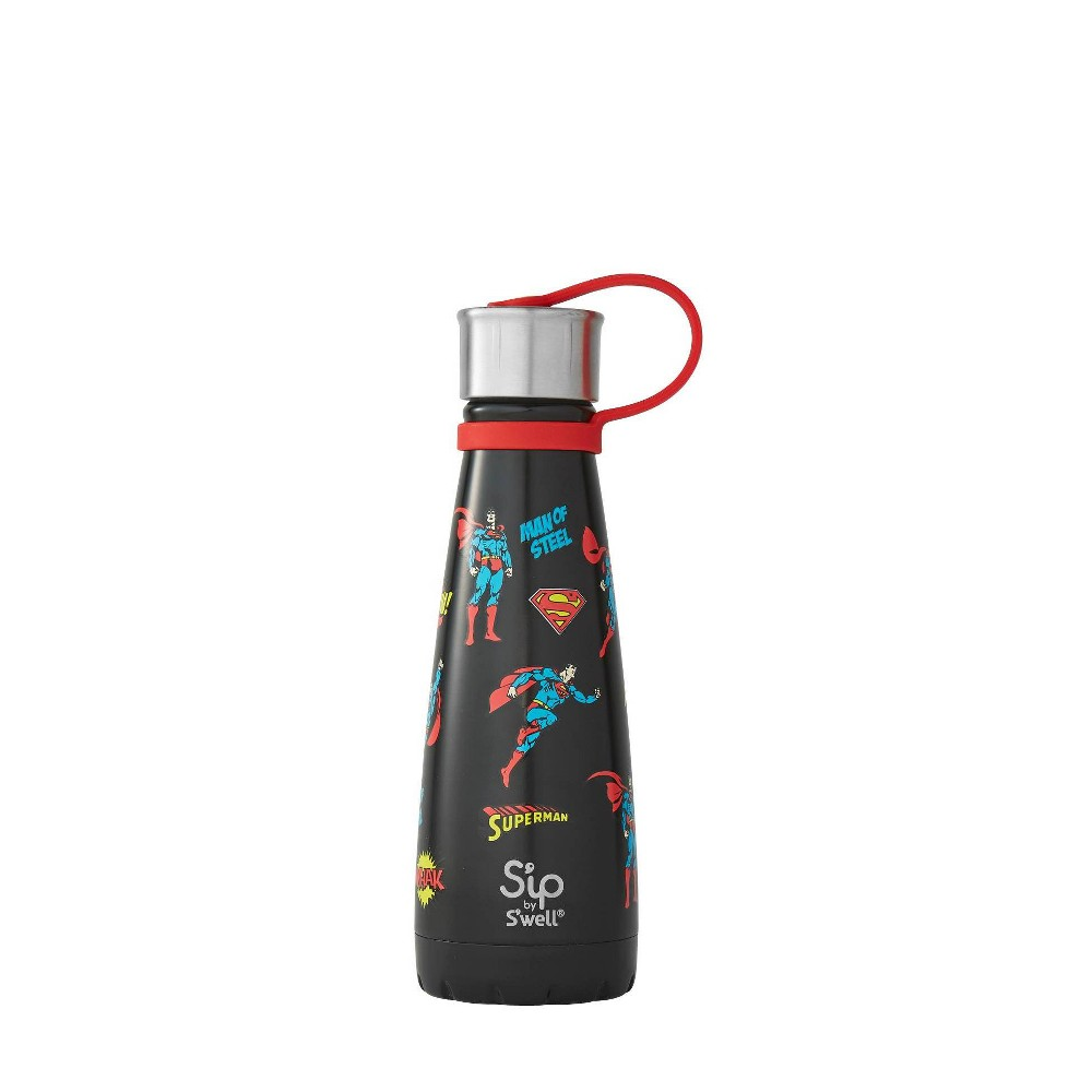 Superman S'ip by S'well 10oz Stainless Steel Kids Water Bottle Black