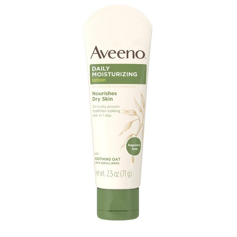 Unscented Aveeno Daily Moisturizing Lotion To Relieve Dry Skin - 2.5 fl oz - image 1 of 8