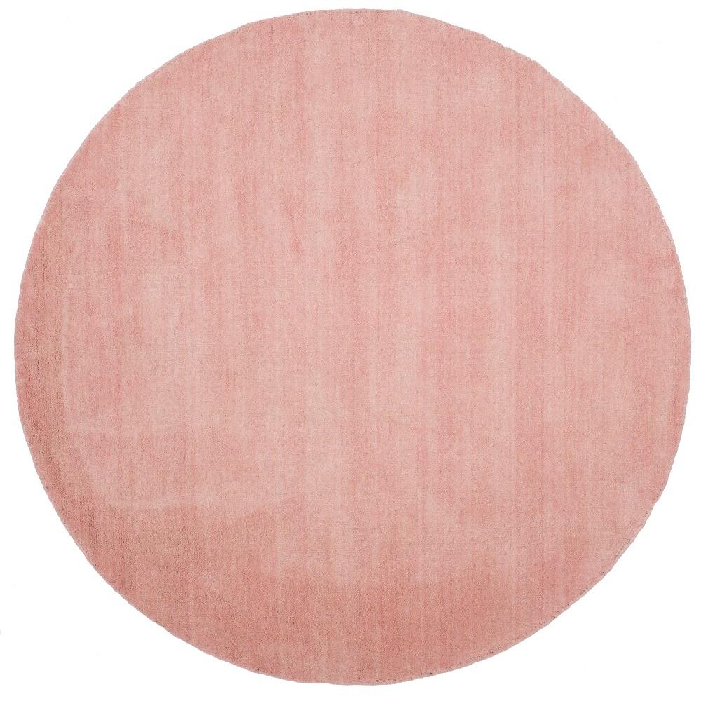 6' Solid Loomed Round Area Rug Light Pink - Safavieh