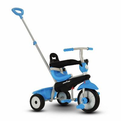 smarTrike Breeze Kids 3 in 1 Tricycle Push Bike, Adjustable Trike Ride On Toy for Baby, Toddler, and Infant Ages 15 Months to 3 Years, Blue