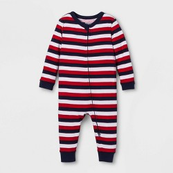 2b2ab4327a Snooze Button Baby Stars And Stripes Family Pajama Union Suit - Red ...