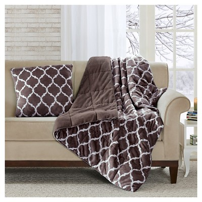 Brown Ogee Oversized Down Alternative Throw (60 X70 )