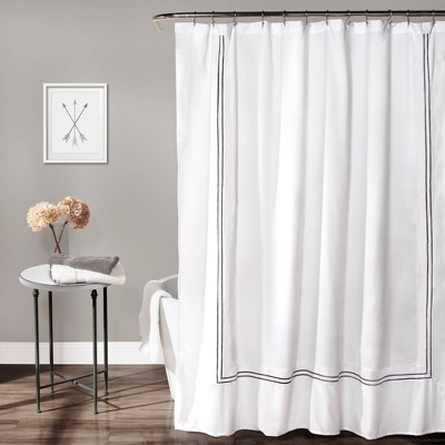 Solid Shower Curtain Gray - Lush Décor