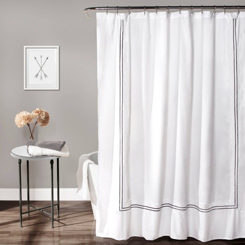 Solid Shower Curtain Gray - Lush Décor - image 1 of 4