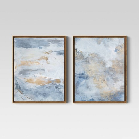 """(Set of 2) 16"""" x 20"""" Abstract Painting Framed Canvas - Project 62™ - image 1 of 4"""