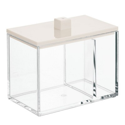 mDesign Square Storage Apothecary Jar for Bathroom