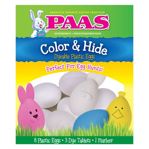 Easter PAAS Color & Hide Dyeable Plastic Eggs Kit - image 1 of 1