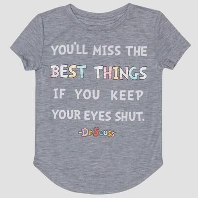 Toddler Girls Dr Seuss Quote Short Sleeve T Shirt