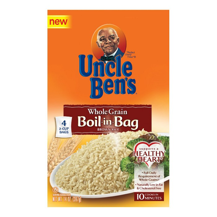 Uncle Ben's Boil-in-Bag Whole Grain Brown Rice - 14oz - image 1 of 1
