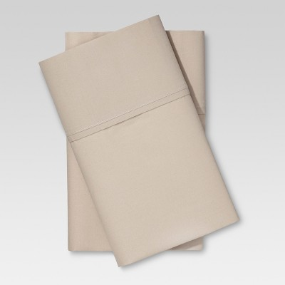 Ultra Soft Pillowcase Set (Standard)Brown Linen 300 Thread Count - Threshold™