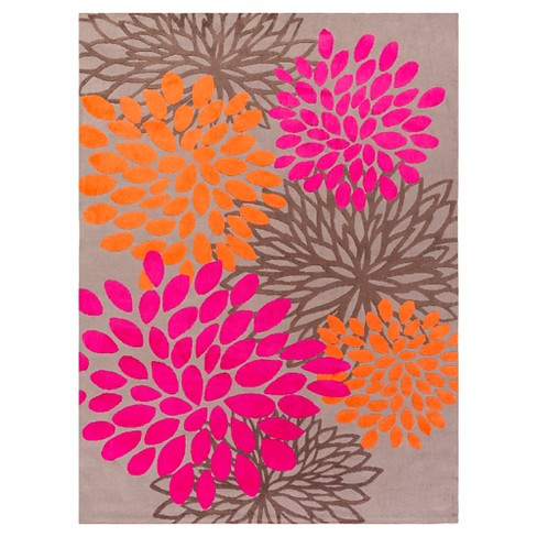 Charming Kid's Rug 8'x11' Bright Pink - Surya - image 1 of 1