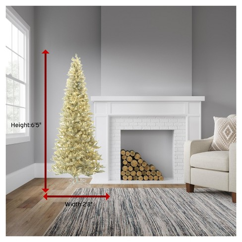 65ft pre lit slim artificial christmas tree platinum fir with 650 warm white led lights target