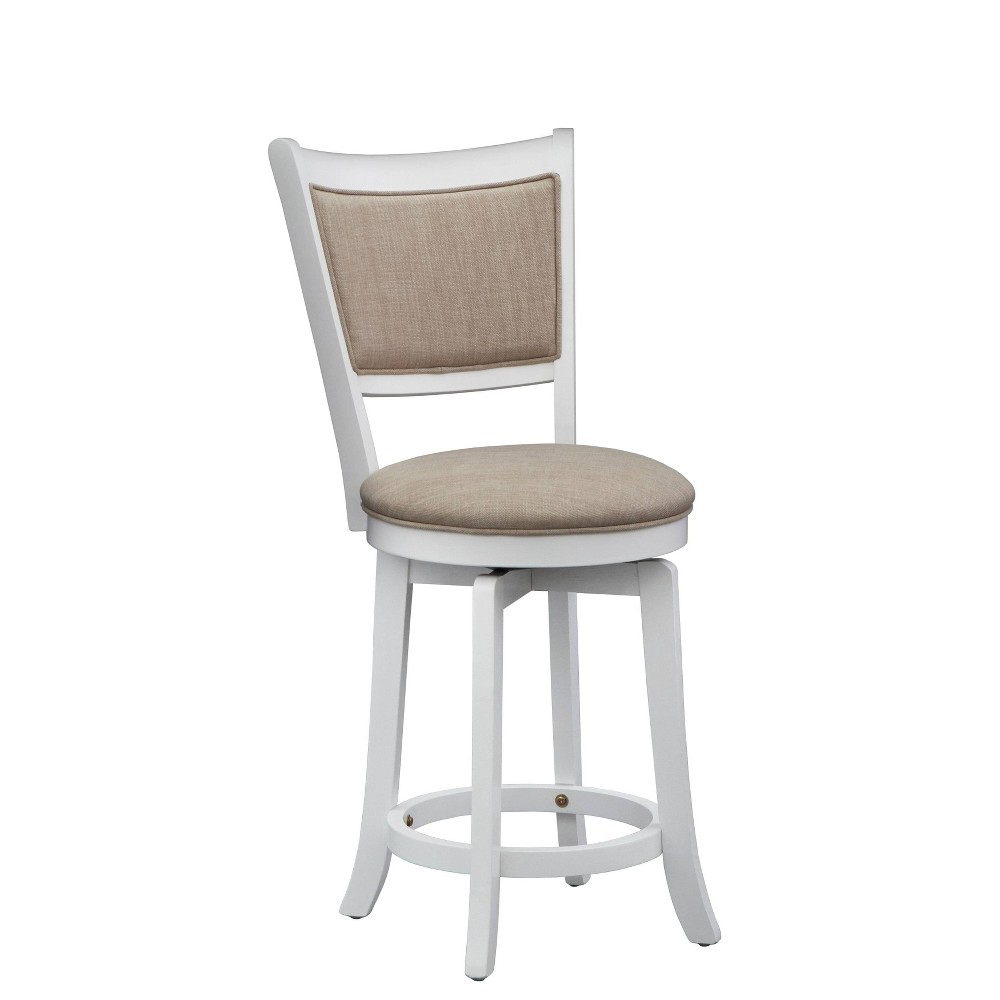 24 34 French Country Swivel Counter Height Barstool White Buylateral