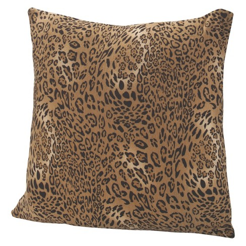 "Jersey Leopard Throw Pillow 17""x17"" - Madison Industries - image 1 of 1"