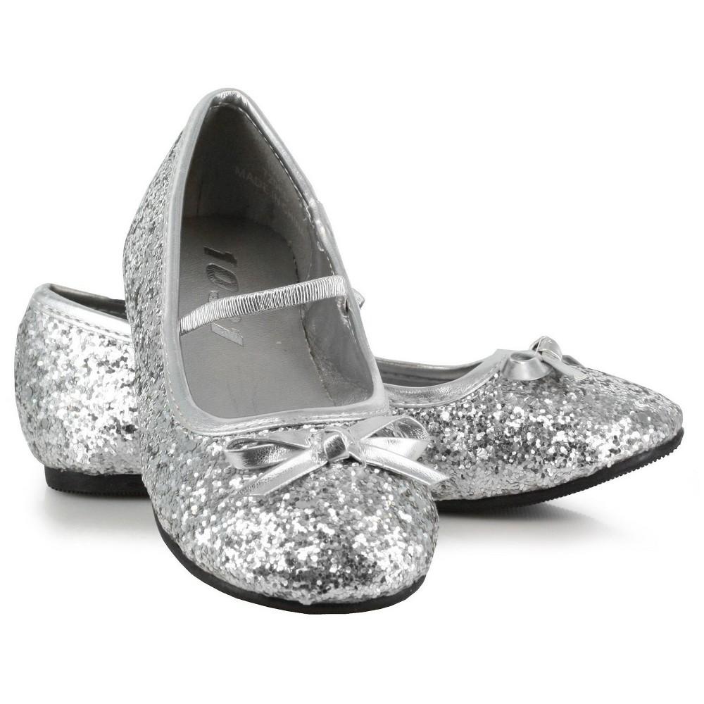 Halloween Girls' Sparkle Ballerina Silver Costume - XL(4/5)