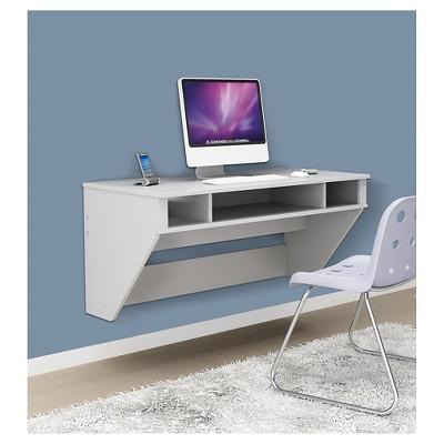 Designer Floating Desk White - Prepac
