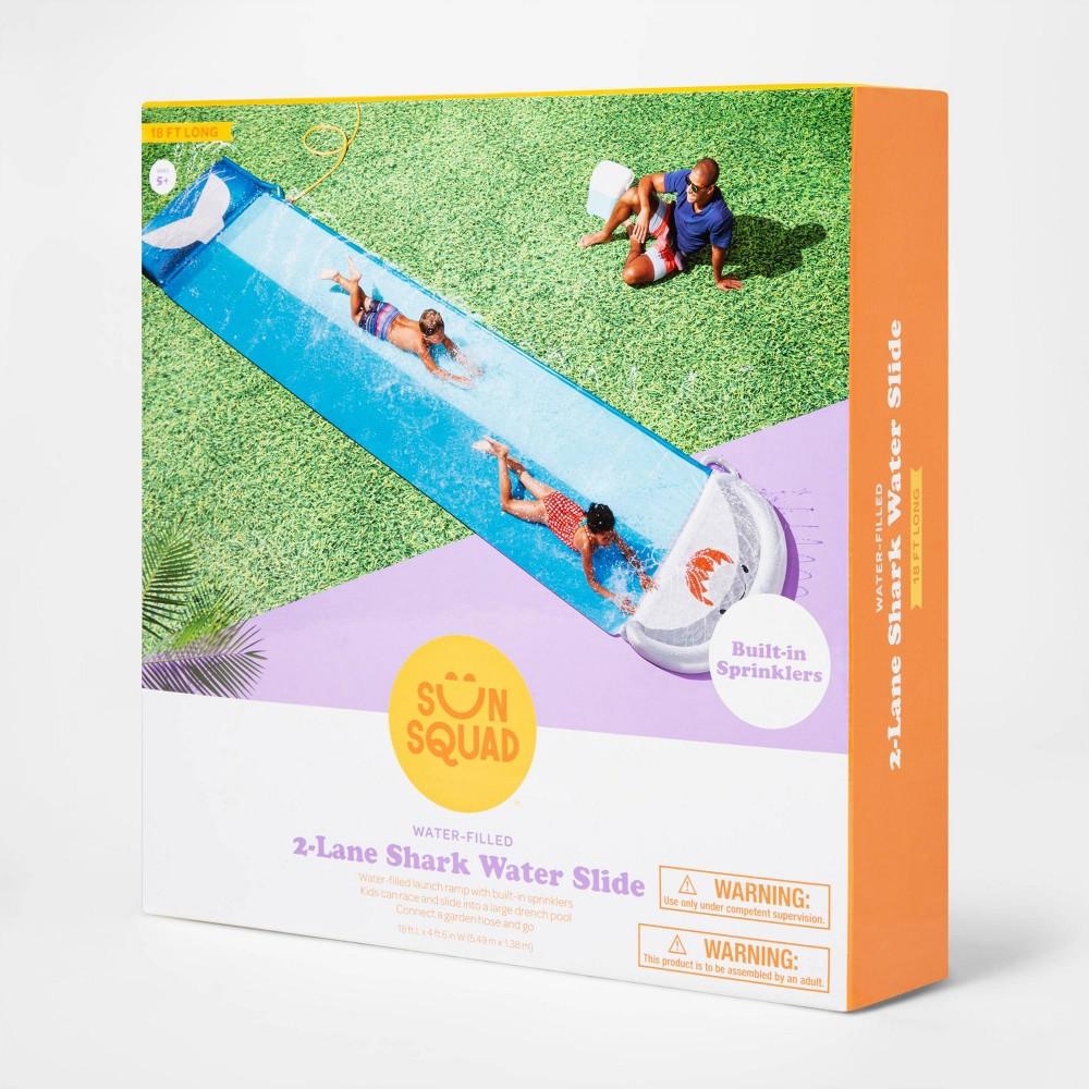 Shark Aqua Ramp Double Water Slide Sun Squad 8482