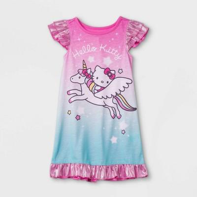 Toddler Girls' Hello Kitty Unicorn Nightgown - Pink