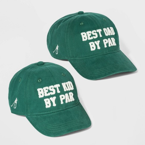 Men's Best Dad and Best Kid By Par Baseball Hat Set - Goodfellow & Co™Green - image 1 of 2