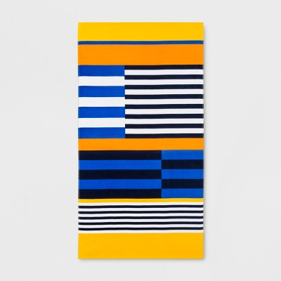 Colorblock Stripes Beach Towel - Sun Squad™