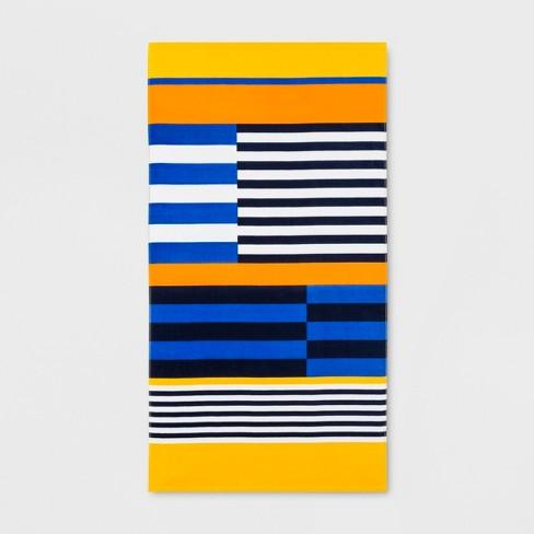 Colorblock Stripes Beach Towel - Sun Squad™ - image 1 of 2