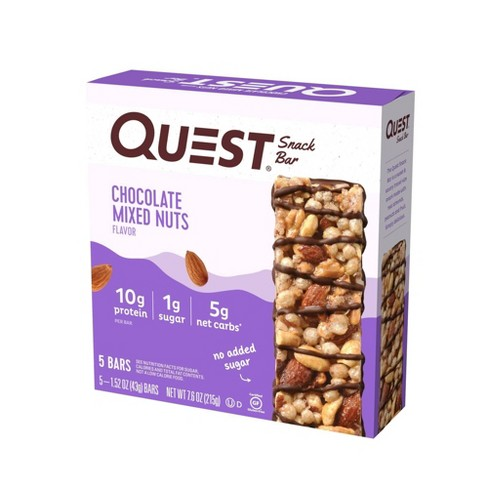 Quest Chocolate Mixed Nuts Snack Bar - 5ct/7.6oz - image 1 of 4