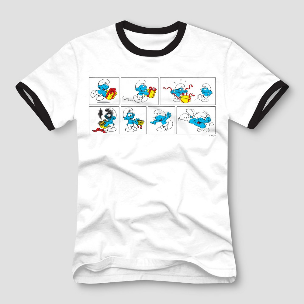 Men's Smurfs Short Sleeve T-Shirt - White M