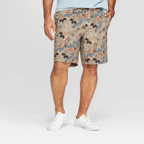 Men's Big & Tall Floral Chino Shorts - Goodfellow & Co™ Bengal Ginger - image 1 of 3