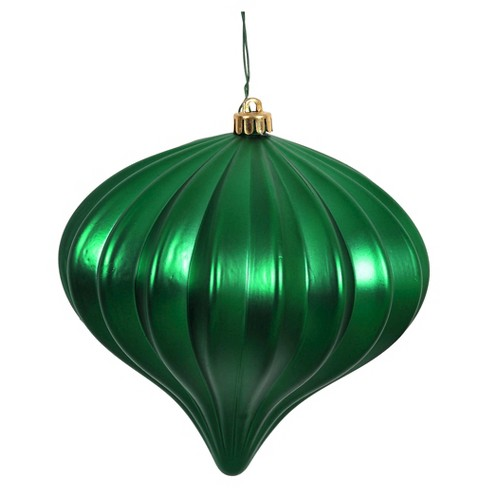 3ct Green Shiny Onion-Shaped Christmas Ornament Set - image 1 of 1